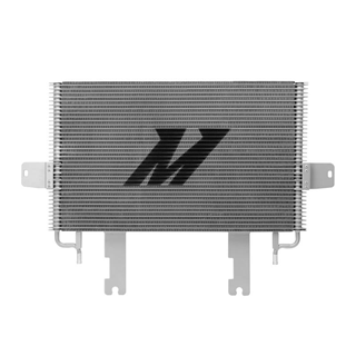 MMTC-F2D-03SL - Mishimoto's new 37-row stacked-plate transmission cooler provides a larger surface area increases core volume by 21% compared to the stock 31-row transmission cooler in 2003-2007 Ford Powerstroke 6.0L diesel trucks. Designed as a direct, drop-in replacement, this unit increases fluid capacity by 1/3 qt and has a proven 10┬░C temperature drop.