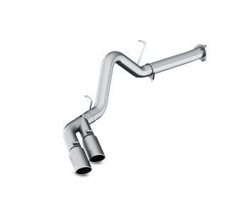 S6027AL - MBRP's AL INSTALLER Series 4-inch DPF (Diesel Particulate Filter) Back Exhaust System for your 2007-2010 GMC Chevy Duramax 6.6L LMM diesel pickup. Made from heavy gauge aluminized steel, this kit includes T304 polished stainless MBRP exhaust tips via a dual outlet exit.