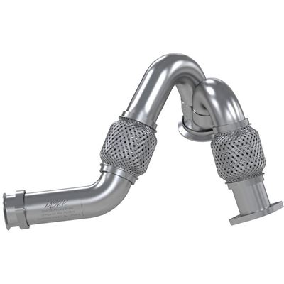 FAL2313 - Built from aluminized steel, MBRP's Y-Pipe assembly for 2003-2007 Ford Powerstroke 6.0L diesels features heavy-duty bellows that resist cracking and leaking over time. This Y-Pipe Assembly is a direct replacement for the factory component. It will retain the use of the EGR because it connects to the factory up-pipe flange that is after the EGR riser.