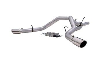 S6122AL - MBRP 4-inch DPF Back COOL DUALS Exhaust - Aluminized Dodge Cummins 6.7L 2007-2009