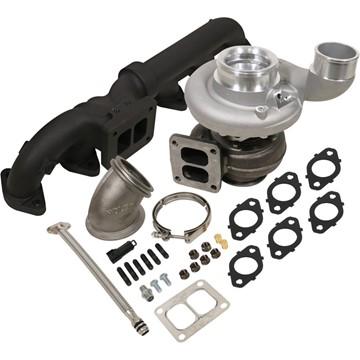 1045172 - BD Iron Horn Turbo Kit - S363SXE/76 0.91AR for 2003-2007 Dodge Cummins Trucks
