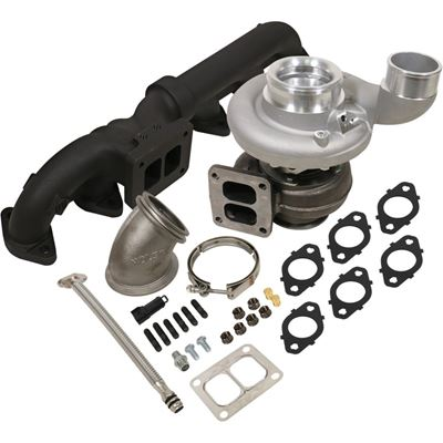 1045172 - BD Iron Horn Turbo Kit - S363SXE/76 0.91AR for 2003-2007 Dodge Cummins Trucks