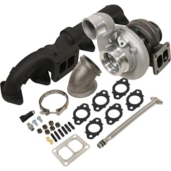 1045173 - BD Iron Horn Turbo Kit - S363SXE/80 0.91AR for 2003-2007 Dodge Cummins Trucks