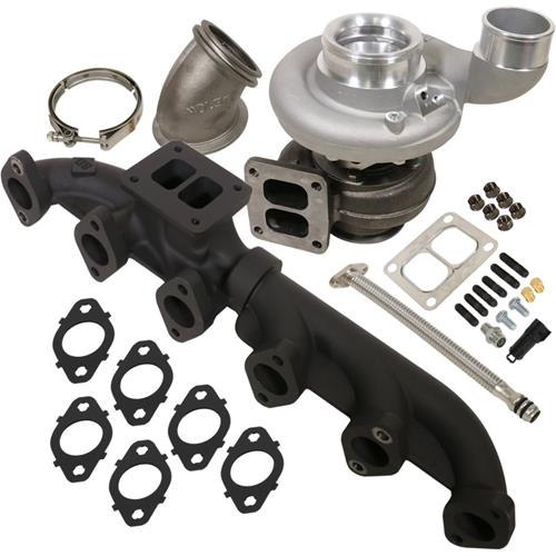 1045175 - BD Iron Horn Turbo Kit - S364SXE/80 1.00AR for 2003-2007 Dodge Cummins Trucks