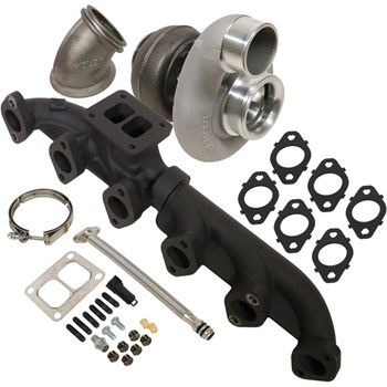 1045176 - BD Iron Horn Turbo Kit - S366SXE/80 0.91AR for 2003-2007 Dodge Cummins Trucks