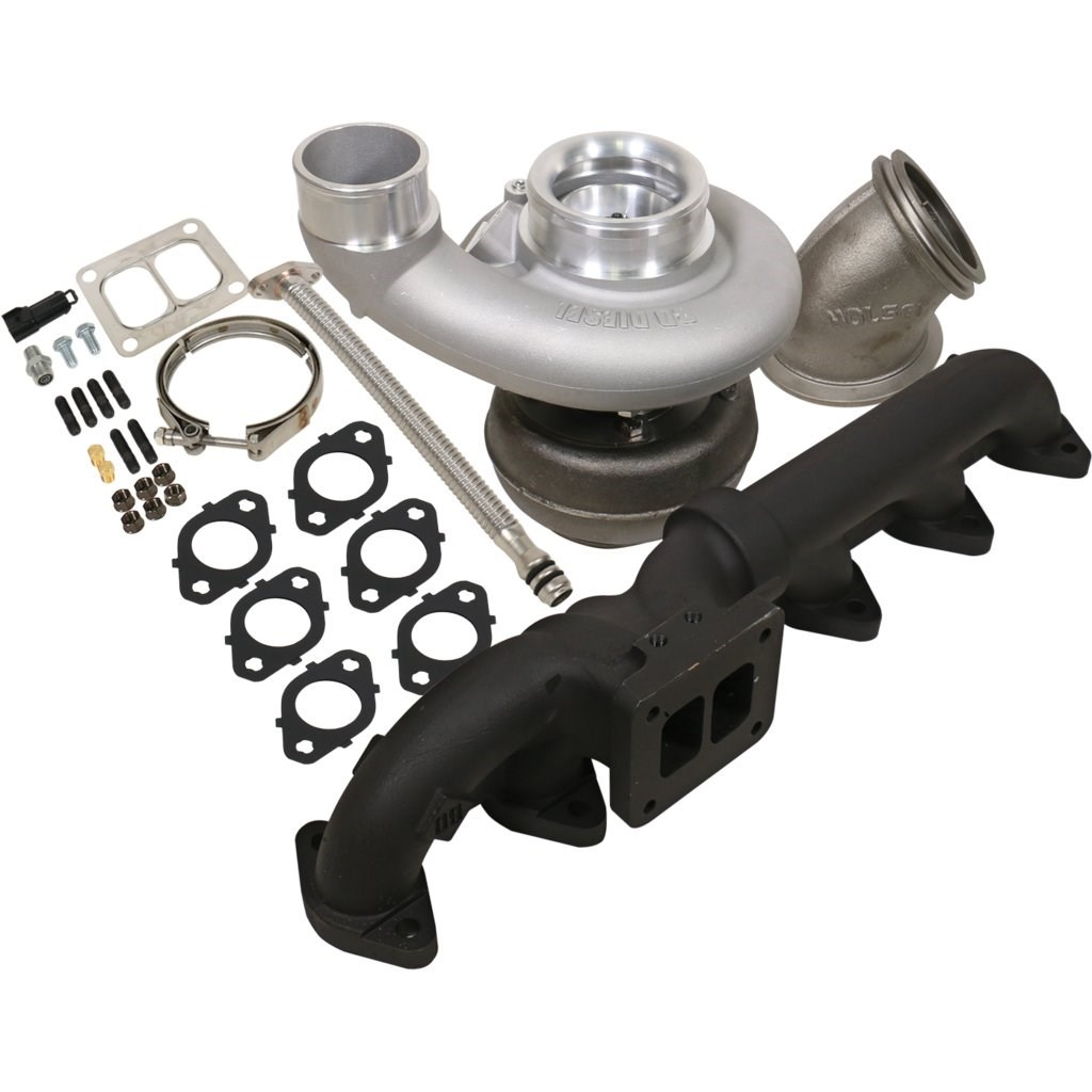1045177 - BD Iron Horn Turbo Kit - S366SXE/80 1.00AR for 2003-2007 Dodge Cummins Trucks