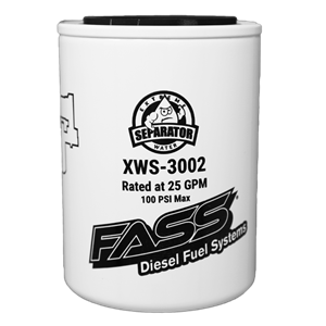 XWS-3002 - FASS Fuel Systems replacement water separator filter element for their Titanium Series lift pump systems.