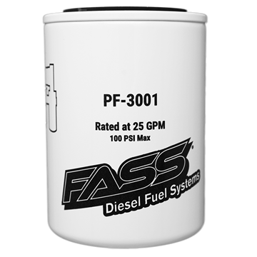 PF-3001 - FASS Fuel's Particulate Filter Replacement element for their Fuel Air Separator Lift pump systems.