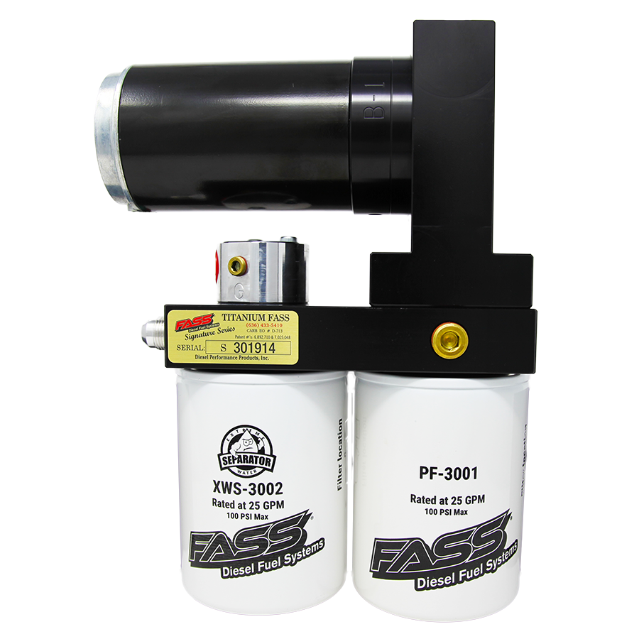 TSF18240G - FASS Fuel Systems Titanium Signature Series Fuel Air Separator Lift Pump System for 2017-2019 Ford Powerstroke 6.7L diesels. Rated at 240GPH