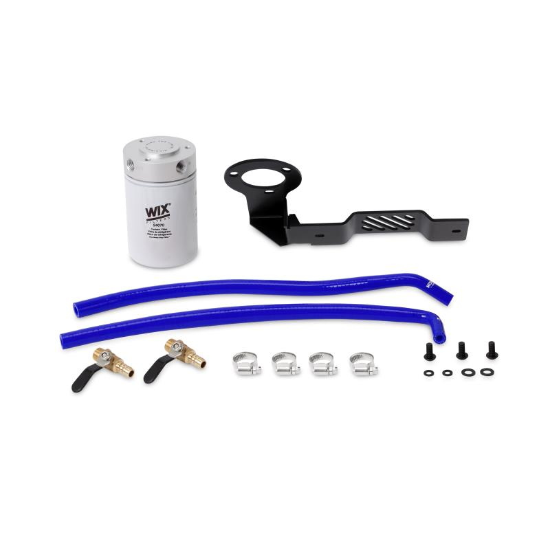 MMCFK-XD-16BL - Mishimoto's Coolant Filter Kit for 2016-2019 Nissan Titan XD 5.0L Cummins Diesels - Blue Coloured Hoses