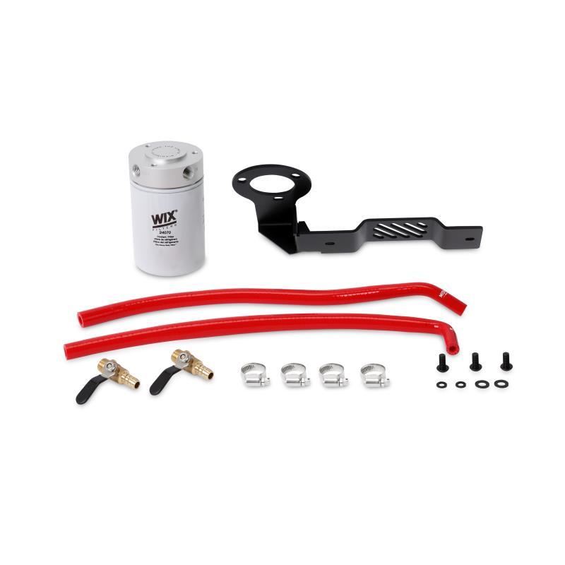MMCFK-XD-16BL - Mishimoto's Coolant Filter Kit for 2016-2019 Nissan Titan XD 5.0L Cummins Diesels - Red Coloured Hoses
