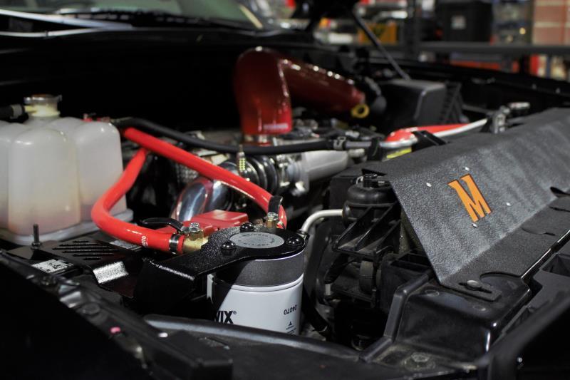 MMCFK-XD-16RD - Mishimoto's Coolant Filter Kit for 2016-2019 Nissan Titan XD 5.0L Cummins Diesels - Installed