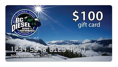 BCDGC-100 - $100 BC Diesel Gift Card