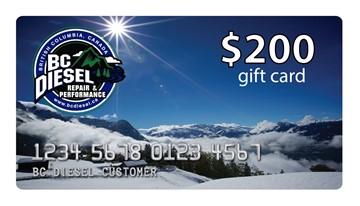 BCDGC-200 - $200 BC Diesel Gift Card