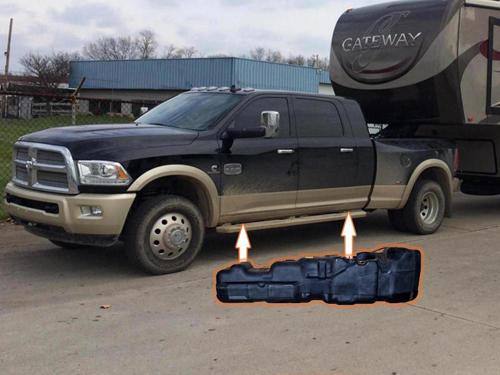 7030213 - Titan 50 Gallon Fuel Tank for 2013-2019 Dodge Cummins 6.7L MC/SB