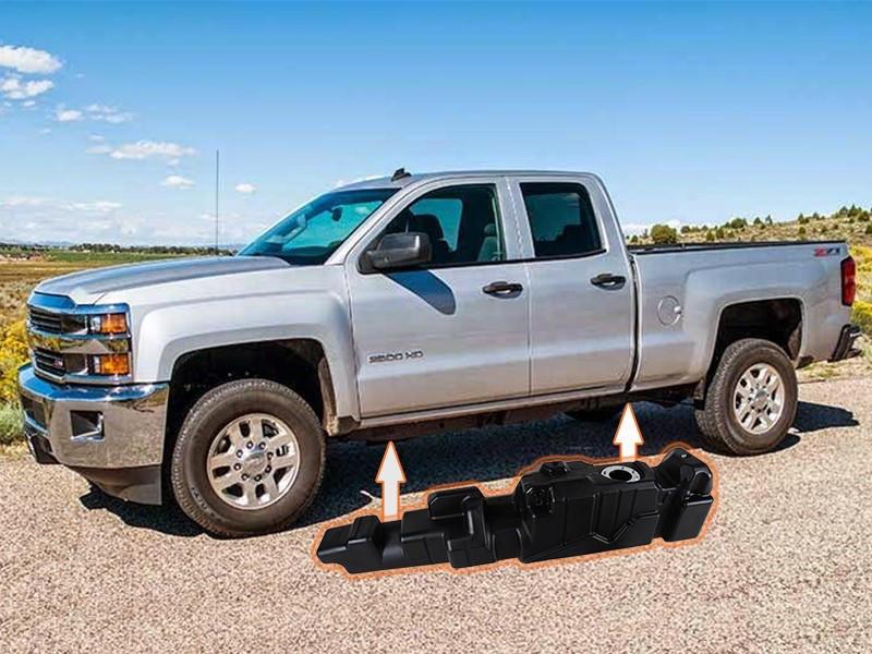 7010411 - Titan 60 Gallon Fuel Tank for 2011-2016 GM Duramax 6.6L LML EC/LB trucks