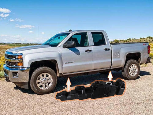 7010411 - Titan 60 Gallon Fuel Tank for 2011-2016 GM Duramax 6.6L LML EC/LB trucks