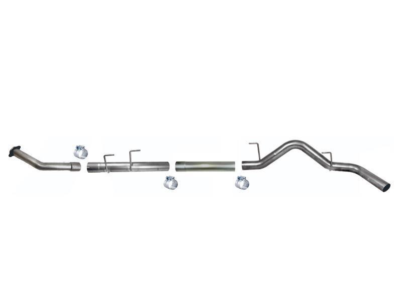 889NM - FloPro 4-inch Turbo Back Exhaust Kit (No Muffler) for 2018-2019 Ford F150 Powerstroke trucks