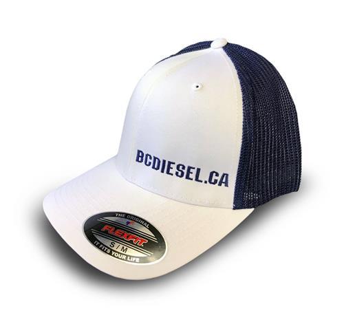 Picture of BC Diesel Flexfit White/Navy Ballcap Hat
