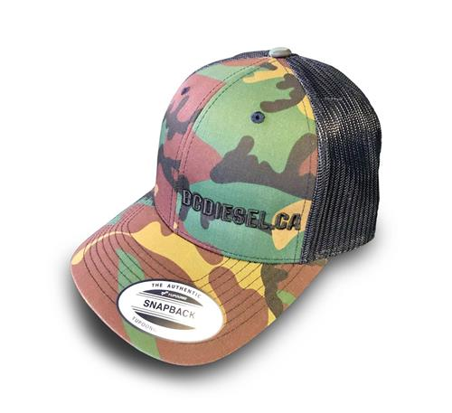 """Picture of BC Diesel Snapback """"One Size"""" Ballcap Hat - Camo Design"""
