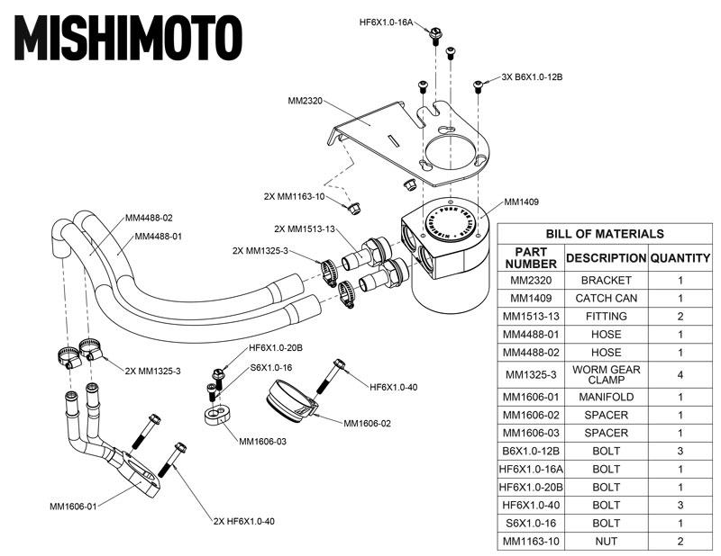 Picture of Mishimoto Baffled Oil Catch Can Kit - Ford 2011-2016