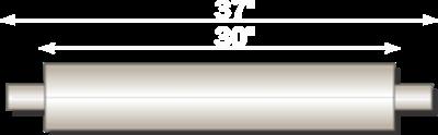"Image de Flo-Pro 4"" x 30"" Aluminized Muffler - Baffle Style"
