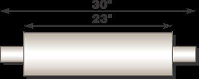 "Image de Flo-Pro 4"" x 23"" Aluminized Muffler - Baffle Style"