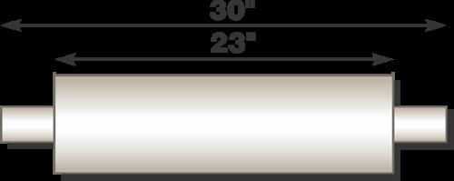 "Picture of Flo-Pro 4"" x 23"" Aluminized Muffler - Baffle Style"