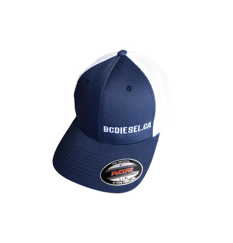 Picture of BC Diesel Mesh FlexFit  Navy Blue & White Ball Cap