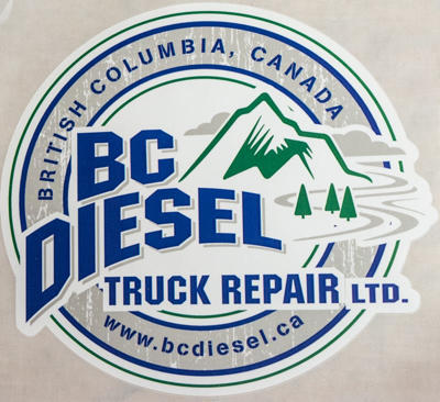 BCDS-60W - BC Diesel 6.0-inch White Sticker (Large)