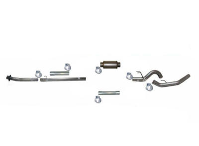 """Picture of Flo-Pro 5"""" Down Pipe Back Exhaust - Stainless Ford 2020 Auto Trans"""
