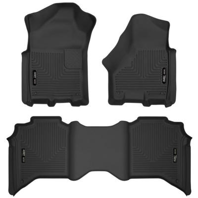 Picture of Husky Floor Mats - Front and Rear - Dodge 2019-2021 CrewCab 2500 & 3500