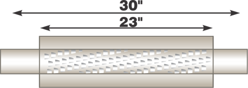 "Image de Flo-Pro 4"" x 23"" Stainless Muffler - Fiberglass Packed Style"