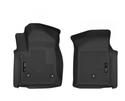 Picture of Husky Front Mats - Front - GM 2019-2021 1500 2020-2021 2500hd/3500 Standard Cab