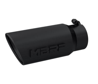 """Picture of MBRP Exhaust Tip 4"""" - 5"""" x 12"""" Angled Rolled End Black Finish"""