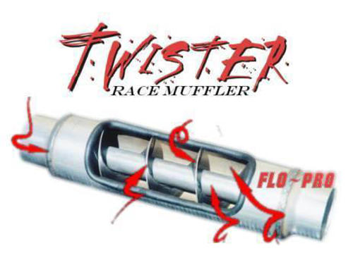 71299 - Flo Pro 4-inch Twister Muffler - Stainless