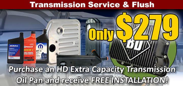 Transmission Service & Flush Special- $279