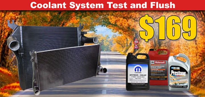 Coolant System Test & Flush Special - $149