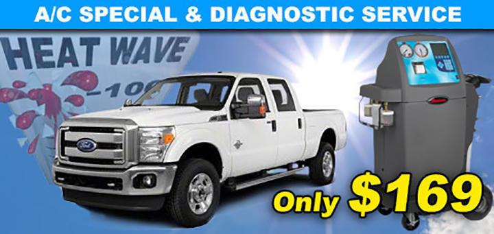 A/C Service & Diagnostic Special - $169