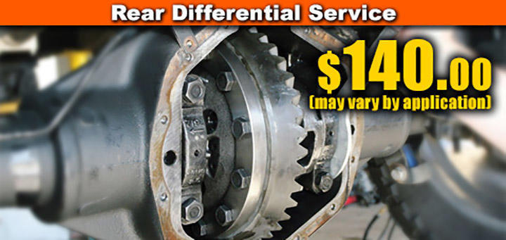 Rear Differential Service Special- $140