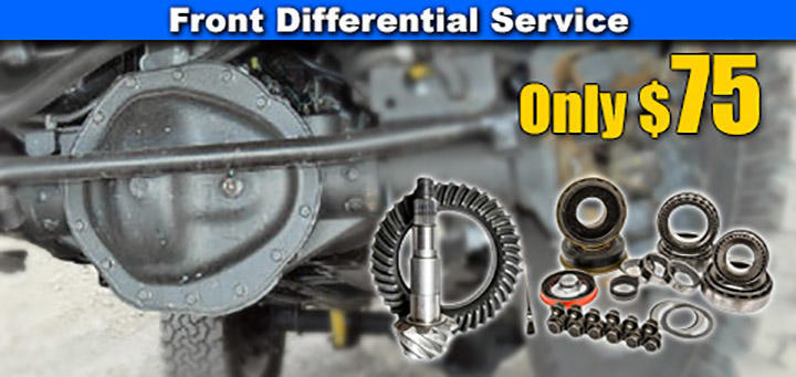 Front Differential Service Special - $75
