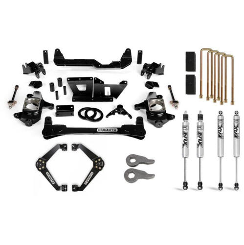 "Image de Cognito 6"" Standard Lift Kit w/Fox IFP Shocks - Silverado/Sierra - 2001-2010 2WD/4WD"
