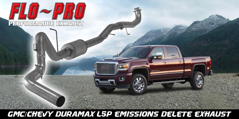 GM Duramax 2017-2019 L5P FloPro DPF Delete Exhaust