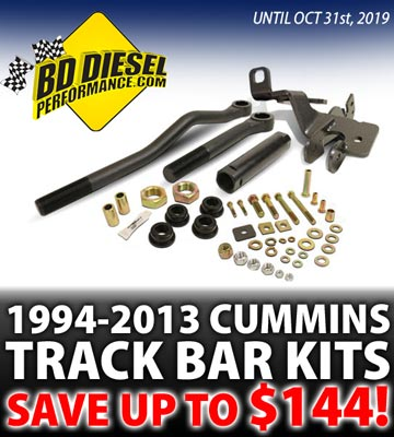 BD Diesel Cummins Track Bar Kits on Sale!