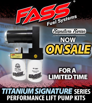 FASS Titanium Signature Series Pump Sale