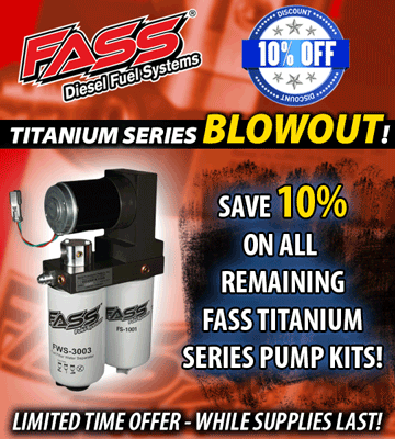 FASS Titanium Series Pumps 10% off